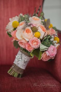 lots of texture in this bouquet. Photo by Allyson Magda