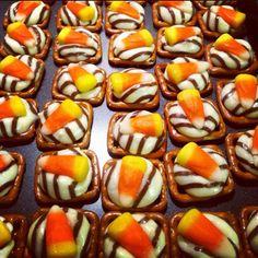 Candy Corn Pretzel snacks
