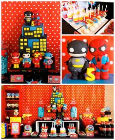 Superhero themed birthday party with Such Cute Ideas via kara's party ideas! full of decorating ideas, dessert, cake, cupcakes, favors and more! KarasPartyIdeas.com #superhero #superheroparty #superherocake #partydecor #partyplanning (2)