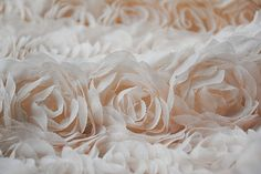 SALE 3D Rosette Fabric Chiffon Fabric  Nude Pink Lace by lacetime
