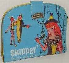 Vintage 1964 Barbie Skipper Vinyl Wallet Coin Purse Billfold Case Mattel SPP 60s