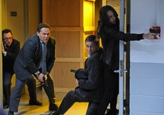 Person of Interest (CBS-2015) Episode: Kiss And Tell, Part 1: The Machine's simulated Option No. 8333,333, Fusco steals a kiss from Root, and Shaw doesn't show up for the final shootout. Who will die? The CBS Bosses; Jonah Nolan, Greg Plageman discusses all the possibilities.