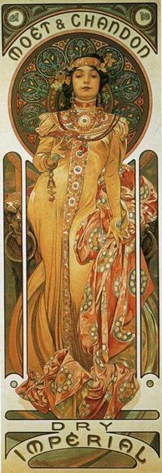 Moët & Chandon: Dry Impérial - Alphonse Mucha (1899)