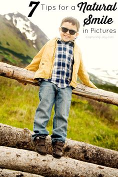 Great tips for getting a natural smile for family pictures! Capturing-Joy.com