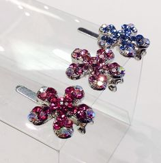 Small 5 petal flower $15.99 each shown in pink, lavender, blue