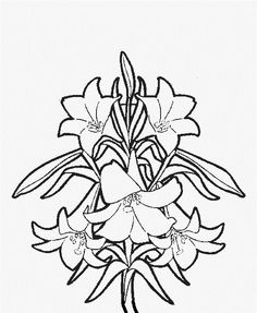 Printable Easter Flower Coloring Pages
