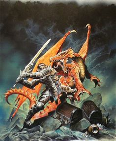 DUNGEONS AND DRAGONS - RED DRAGON Box Cover art by Wayne Reynolds