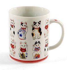 $20 - AmazonSmile: Maneki-neko Fortune Cat Lucky Cat Mug From Japan: Kitchen & Dining