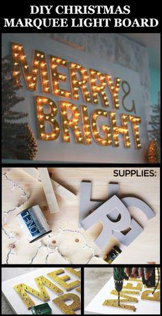 DIY Christmas Marquee Light Board - DIY Ideas 4 Home