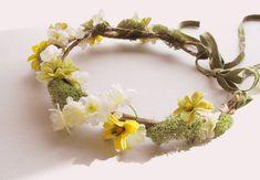 WOODLAND WEDDING HEADPIECE-Bridal Headdress-Bridal Hairpiece-yellow wedding