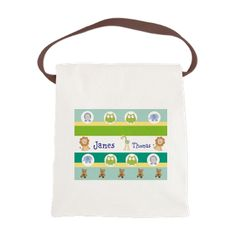 Personalize it! Garden Stripes Friends Canvas Lunch sac - PERSONALIZE this and other fun design ONLINE at our www.cafepress.com/drapestudio shop!  And always a big THANKS for sharing our shop with your friends!