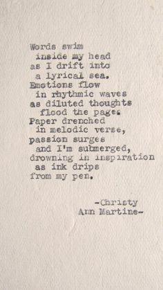 Beautiful poem. Christy Anne Martine.