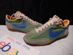 huge discount 3a8f4 f5930 VTG OG 1977-1981 Nike Roadrunner sz 6 Taiwan Big Swoosh Green Royal Yellow  70s