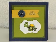 I love the colors of this fun card..  The Alley Way Stamps