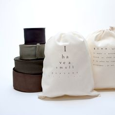 2 cotton bags with text by pilosale on Etsy