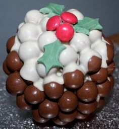 Small Malteser Christmas pudding bomb..i just want to shove the whole thing in my mouth..mmmm
