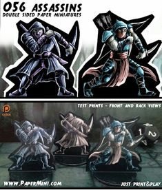 More than 200 templates for double sided paper miniatures available on my patreon page Dungeons And Dragons, Troll, Darth Vader, Miniatures, Paper, Prints, Movie Posters, Templates, Fictional Characters