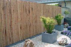 Pergola Against House Outdoor Spaces, Outdoor Living, Bamboo Fence, Backyard, Patio, Diy Pergola, Garden Projects, Garden Design, New Homes