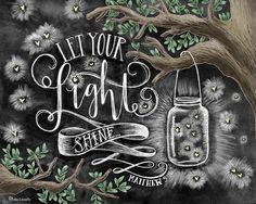 Je licht laten schijnen krijt kunst schoolbord door TheWhiteLime