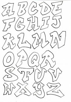 These are part of a handout for the kids in my class. Im getting into letters this week, so I figured Id give them something to work off of while they do their own thing. Grafitti Letters, Graffiti Lettering Alphabet, Graffiti Names, Lettering Tutorial, Letras Comic, Alfabeto Graffiti, Bubble Letters, Graffiti Drawing, Easy Drawings