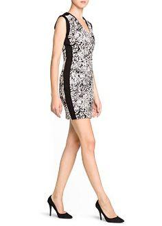 MANGO - Sale - Dresses - Animal print pencil dress