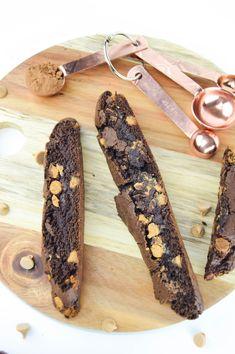 Chocolate Peanut Butter Chip Biscotti