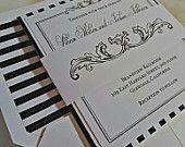 Wedding Invitation Royal Blue and Silver Wedding por AmiraDesign