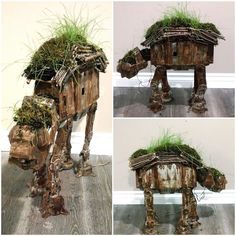 #ATAT update - still growing strong. Loads of grasses growing among the Chia and moss.  Thanks for checking out my projects.  Stay tuned. ------------------------------------------------------ Original Post info- Behold my  #Abandoned Legacy edition #StarWars #Imperial #ATAT . Next it will be incorporated into the new #EwokVillage #Diorama I am building.  As always there is real rust growing on plastic thanks to my liquefied iron filings and salt wash. Additional details done using #Tamiya…