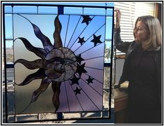 Sun, Moon And Stars - Delphi Stained Glass