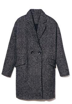Manteau gris chiné La Fée Maraboutée