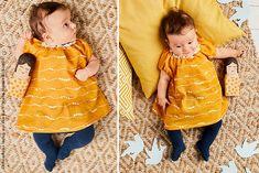 Perfekt für kleine Trendsetter! Dieses Kleidchen ist in Kombination mit einer Leggings oder Stumpfhose nicht nur im Sommer ein süßer Hingucker. Genau das Richtige, um die Welt zu erkunden!
