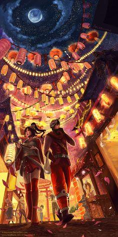 Festival of Lights by Arlequinne.deviantart.com on @deviantART