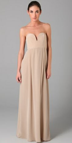 Simple, so you don't have to focus your whole wedding on the color of the bridesmaid dresses.