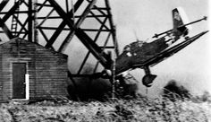 Junkers Ju-87 Stuka-just as it crashes,.