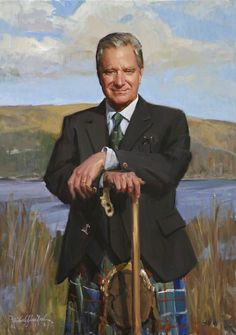 Portrait Painting of Sir Malcolm Colquhoun by Michael Shane Neal - The Studio of Portrait Artist Michael Shane Neal - Original portrait paintings by Michael Shane Neal.