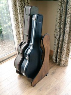 For Oak Guitar Rack Cases Handmade To Order Free Delivery