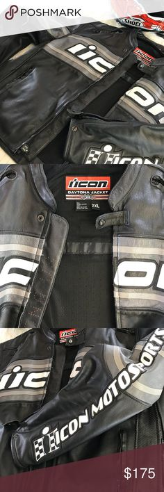 icon motorsports daytona jacket Armored motorcycle jacket excellent condition ICON Jackets & Coats