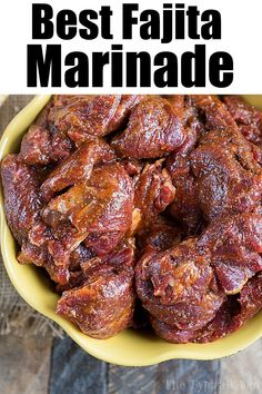 The best fajita marinade recipe is here for you to enjoy! If you're obsessed wit… The best fajita marinade recipe is here for you to enjoy! If you're obsessed with fajitas like we are we're sharing the best beef marinade secret with you! Best Steak Fajitas, Beef Fajita Marinade, Steak Fajita Recipe, Beef Fajitas, Mexican Steak Marinade, Chicken Fajitas Seasoning, Best Fajita Recipe, Skirt Steak Recipes, Bon Appetit