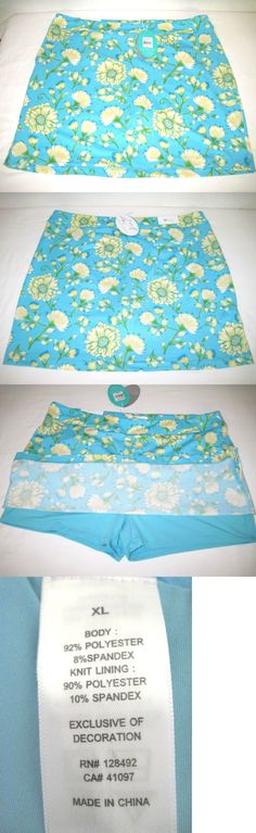 Skirts Skorts and Dresses 179003: Greg Norman Women S Floral Print Knit Golf Skort, Size Xl Blue, New With Tags -> BUY IT NOW ONLY: $39.99 on eBay!