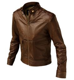 Choosing The Right Men's Leather Jackets. A leather coat is a must for every single guy's closet and is also an excellent method to express his personal design. Leather coats never ever head Classic Leather Jacket, Men's Leather Jacket, Leather Jackets, Slim Fit Jackets, Men's Jackets, Stylish Mens Fashion, Men's Fashion, Revival Clothing, Jacket Style