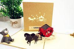 3D Cinderella Princess Carriage Pop-Up Card / Valentine's Day Card by NoveltyEden on Etsy https://www.etsy.com/listing/235870089/3d-cinderella-princess-carriage-pop-up