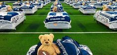 On Friday, 100 underprivileged children were invited to the Dallas Cowboys football stadium for a giant sleepover party—and a giant surprise at the end.