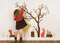Turn their bedroom into a woodsy wonderland with these reusable and removable fabric stickers.