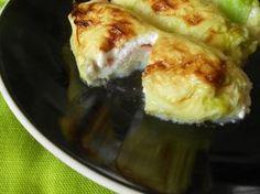 Prosciutto and Mozzarella Cabbage Rolls Mozzarella, Coconut Flan, Cabbage Rolls, Prosciutto, Baked Potato, Dolce, Ricotta, Favorite Recipes, Cooking