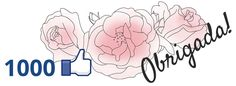 O post de hoje reservo para agradecimentos. Chegamos a 1000 likes no facebook do Clube Noivas - muita alegria no momento.