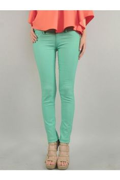 Skinny Pants-Variety Colors Available - Pants - Apparel