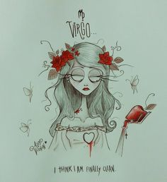 "14.6 mil curtidas, 1,363 comentários - Alef Vernon (@alefvernonart) no Instagram: ""♍ VIRGO ♍ I think I'm finally clean ❤⚘ Next: Pisces or Aquarius? ♍❤♍❤♍❤♍❤♍❤♍ #zodiac #virgo…"""