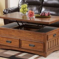 Lift Top Coffee Table With Deep Storage