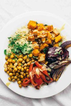 Harissa Veggie Bowl! Vegan, vegetarian, gluten-free, easy to make. SO good!
