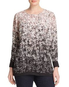 VINCE CAMUTO PLUS Abstract Print Blouse | Bloomingdale's